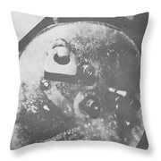 Abstract Faded Throw Pillow