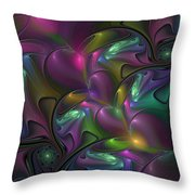 Abstract Fantasy Fractal Throw Pillow