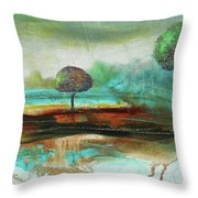 Abstract Fantasy Landscape Throw Pillow