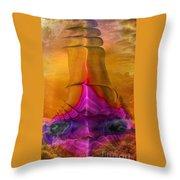 Abstract Fantasy Sailing Throw Pillow