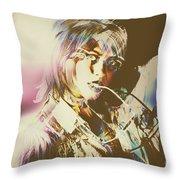 Abstract Fashion Pop Art Throw Pillow