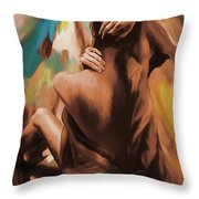 Abstract Female Back  Throw Pillow