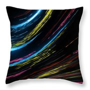 Abstract Fiber Throw Pillow