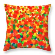 Abstract Field Throw Pillow