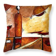 Abstract Figurative Art African Flame By Madart Throw Pillow