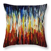 Abstract Fire And Ice Throw Pillow