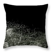 Abstract Fireworks II Throw Pillow