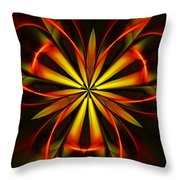 Abstract Floral 032811 Throw Pillow