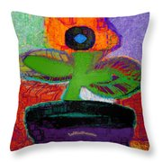 Abstract Floral Art 114 Throw Pillow