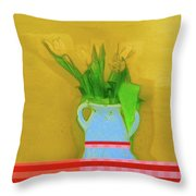 Abstract Floral Art 323 Throw Pillow