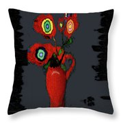 Abstract Floral Art 91 Throw Pillow