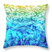 Abstract Floral Dl312016 Throw Pillow