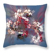 Abstract Floral Fantasy  Throw Pillow