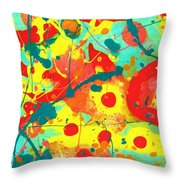Abstract Floral Fantasy Panel A Throw Pillow