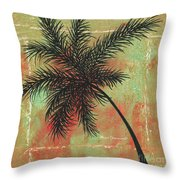 Abstract Floral Fauna Palm Tree Leaf Tropical Palm Splash Abstract Art By Megan Duncanson  Throw Pillow