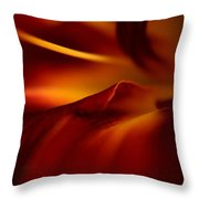 Abstract Floral Throw Pillow