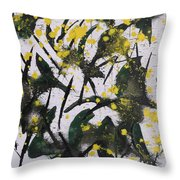 Abstract Floral Study Throw Pillow