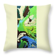 Abstract Flow Green-blue Series No.3 Throw Pillow