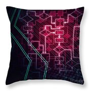 Abstract Flowchart Background Throw Pillow