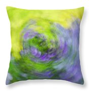 Abstract Flower-bed Throw Pillow