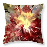 Abstract Flower Throw Pillow by Denise Tomasura