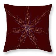 Abstract Flower Mandala Throw Pillow