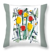 Abstract Flower Sixteen Throw Pillow