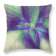 Abstract Flower Sway Throw Pillow
