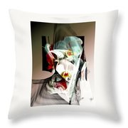 Abstract Flowers Of Love #1 Throw Pillow