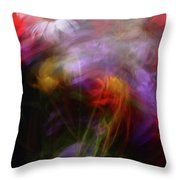 Abstract Flowers One Throw Pillow