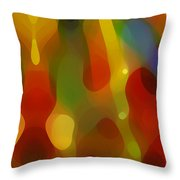 Abstract Flowing Light Throw Pillow