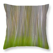 Abstract Forest 2 Throw Pillow