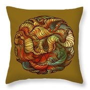 Abstract Forest Ball Throw Pillow