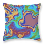 Abstract Fractal Background Throw Pillow