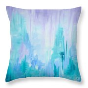 Abstract Frost 1 Throw Pillow