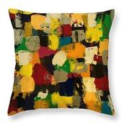 Abstract Fun Throw Pillow by Sonya Wilson