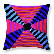 Abstract Fun Tunnel Throw Pillow