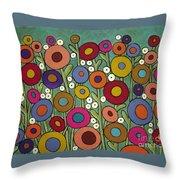 Abstract Garden Throw Pillow
