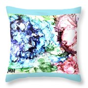 Abstract Garden Throw Pillow