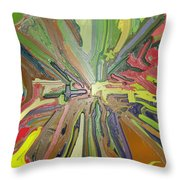 Abstract Garden Wrapped Throw Pillow