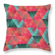 Abstract Geometric Colorful Endless Triangles Abstract Art Throw Pillow