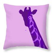 Abstract Giraffe Contours Purple Throw Pillow