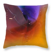 Abstract Glass 56 Throw Pillow