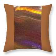 Abstract Gold Brown And Blue Throw Pillow