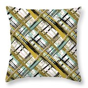 Abstract Gold Lines Throw Pillow