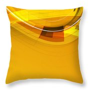 Abstract Golden Arcs And Lines Throw Pillow