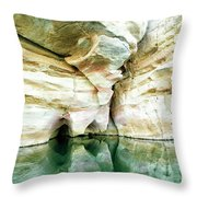 Abstract Gorge Throw Pillow