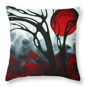 Abstract Gothic Art Original Landscape Painting Imagine I By Madart Throw Pillow