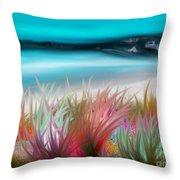 Abstract Grass Series 17 Throw Pillow
