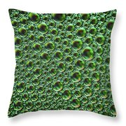 Abstract Green Alien Bubble Skin Throw Pillow